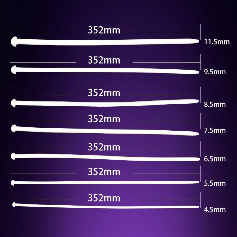 / Longue 350mm Silicone Uretral Sonore Pénis Plug Sonnant Plug Uretral Cathéter Adulte Jeu Sex Toys Pour Hommes