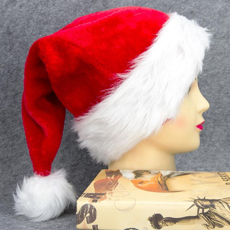 Santa Hat Plush Fur Adult Costume Dress-up NWT