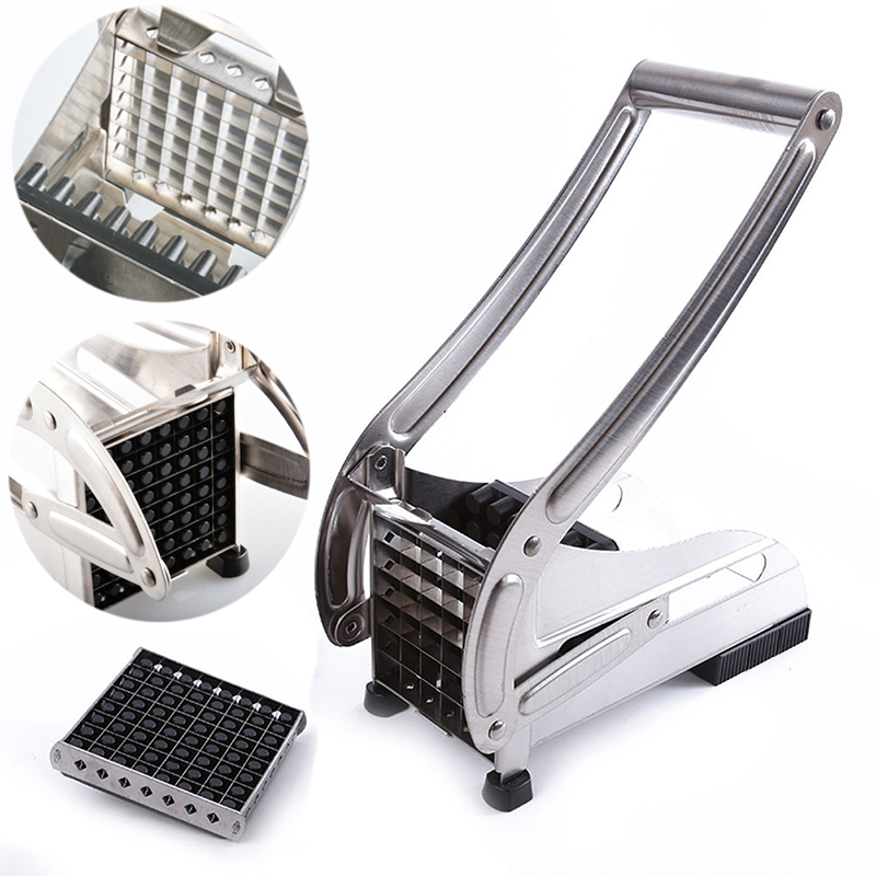 French Fry Cutter Machine Vegetable Potato Kitchen Slicer Stainless Steel