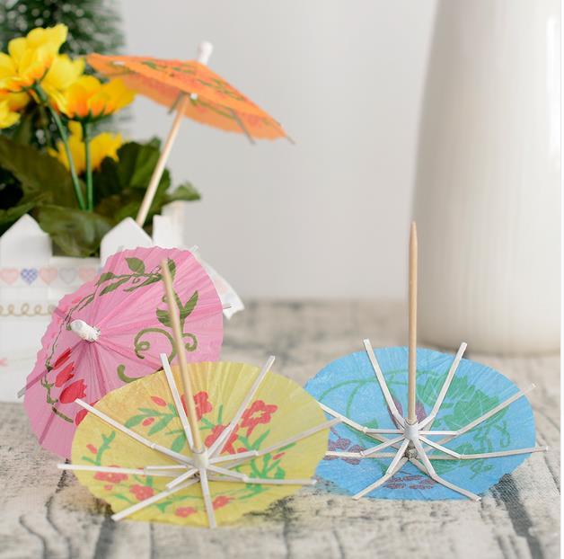 144 selecciones de paraguas hawaiano Cóctel Palillos Sombrilla Luau Decoración Fiesta Bebidas
