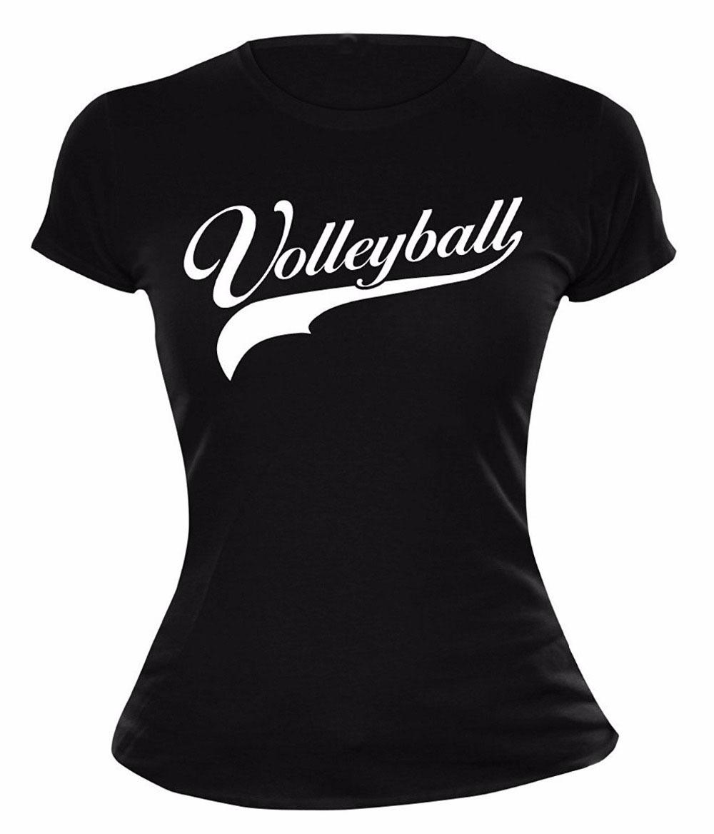 2017 Hot Sale Super Fashion Summer Fashion Funny Print T-Shirts Volleyballer Logo 100 % Cotton Tee Shirt For Women