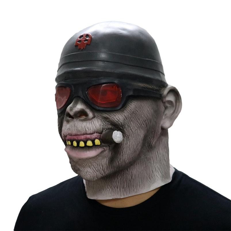 Gorilla Monkey Smoking Halloween Mask Horrible Latex Nun Venom Mask Melting Face Costume Halloween Masquerade Freeshipping #FO03 (1)