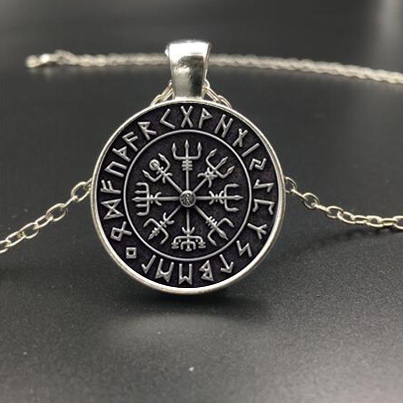 Collar de cabuj/ón de cristal con s/ímbolo de la rueda de Hecate joyer/ía inspiradora para mujer