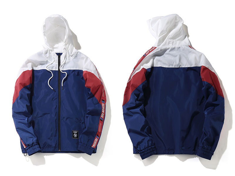 Color Block Patchwork Windbreaker Hooded Jackets 4