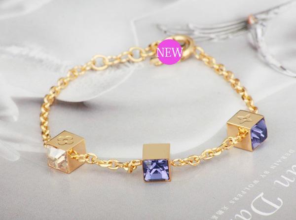 Marque de mode Dames Bracelets Chaude Style Bracelet En Acier Inoxydable De Luxe Conception 18K Or Rose Bracelet En Argent avec Boîte Amant Cadeau