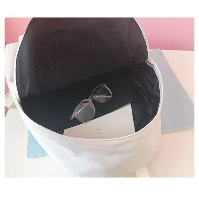Fashion Women Harajuku Flamingo Embroidery Backpack Travel Backpack School Students Canvas Rucksack Popular Y18110202