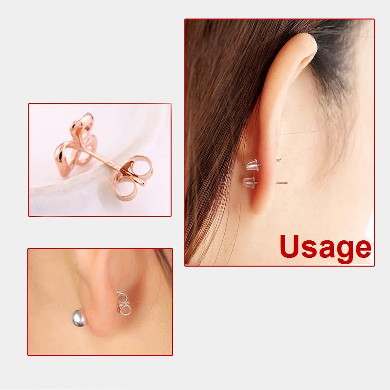 2000pcs freier Gummiohrring Sicherheits Rückseiten Ohr Nuts Ohrring