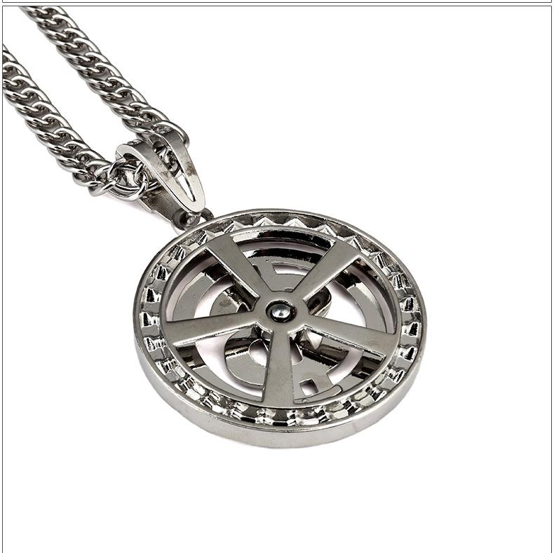New Style Fashion Men Coin Dollar Necklaces Hot Luxury Design Money Seeker Necklaces Full Diamond Pendant Necklace Hiop Hop Accessories