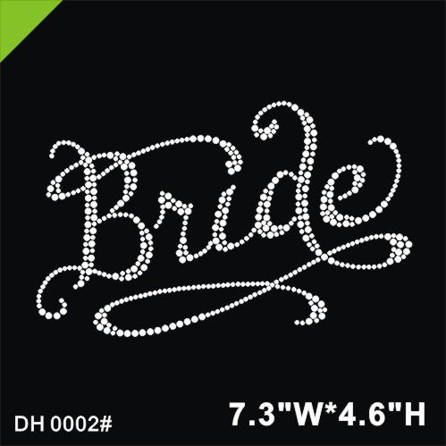 6,..Bride/'s Bitches Iron On Rhinestone Transfer Wedding Bridal 5 Lot of 3 4