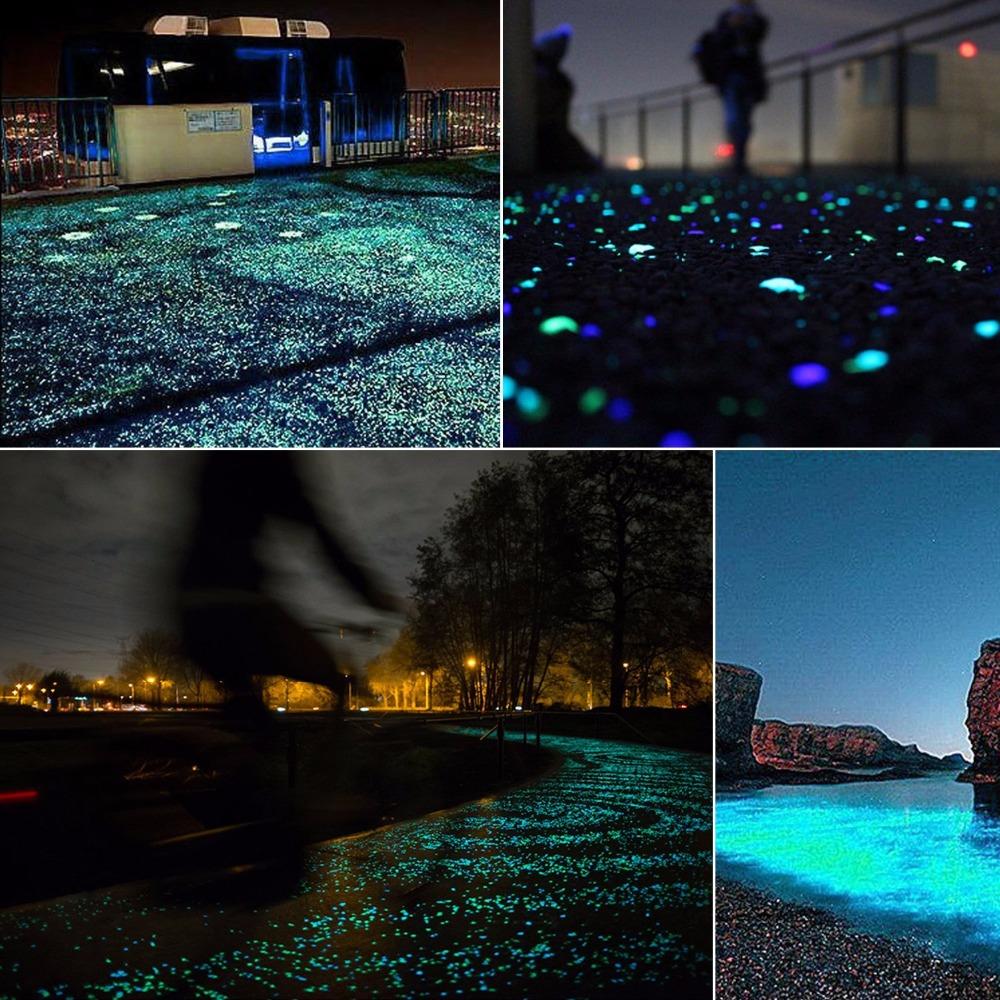 Im Dunkeln Leuchten Künstliche Leuchtsteine Felsen Garten Dekoration Zubehör