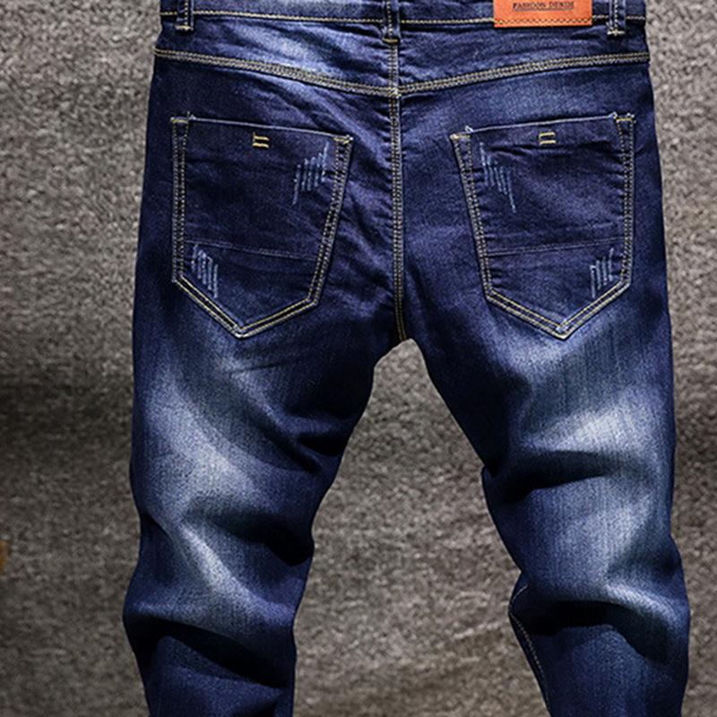 NIBESSER Marke Stretch Denim Hosen Slim Fit Jeans Männer Casual Biker Denim Jeans Männlichen Street Hip Hop Vintage Hosen Dünne Hose D18102306