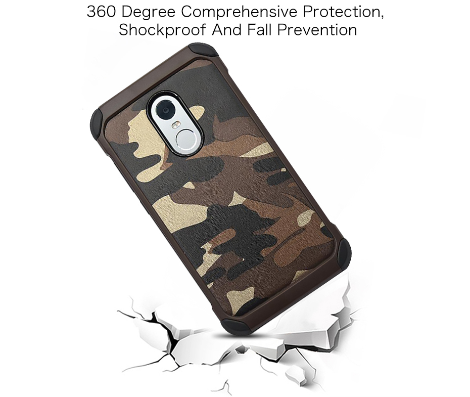 Millet 6 mobile phone shell red rice note43 protective sleeve 5 creative camouflage all inclusive anti fall soft silicone Combo (6)