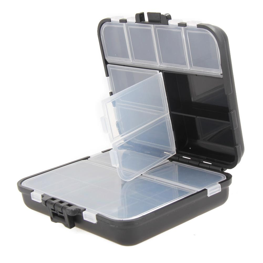 Clear Box Case Plastic Slim S//M//L Outdoor Fly Storage Tackle High Quality
