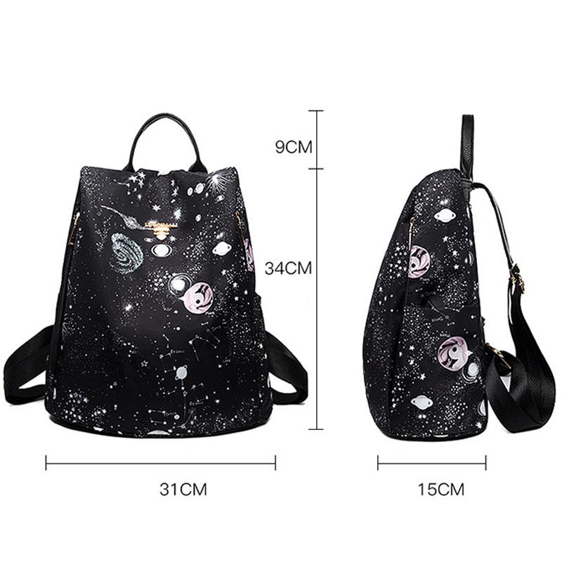 AMLETG Fresh Style Women Backpacks Print Bookbags Canvas Backpack School Bag for Girls Rucksack Female Travel Backpack Mocnila