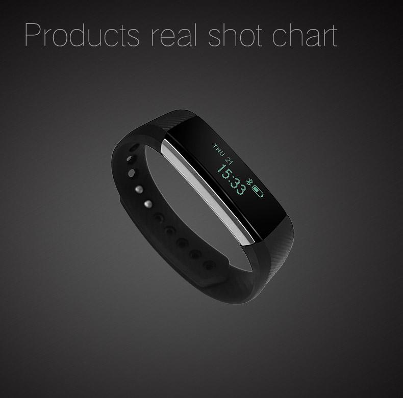 TK47 Fitness Tracker Smart Wristband Bluetooth 4 0 Sleep Monitor Sport  Bracelet Smart Band For IOS Android Pk Fit Bit Mi Band 2 Pink Wristbands