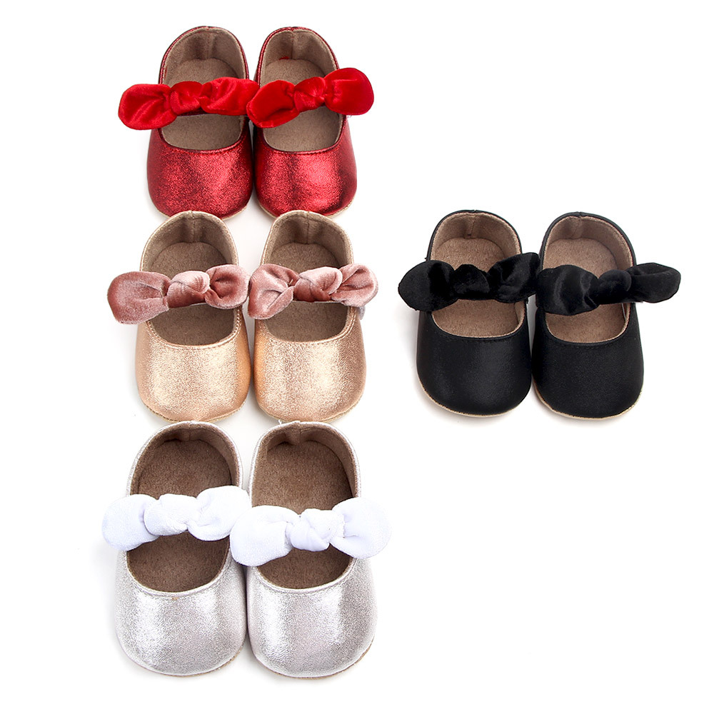 Baby Girl Shoes Bow PU Leather Princess Baby Shoes Primi Camminatori Newborn Toddler Girl Culla Scarpe