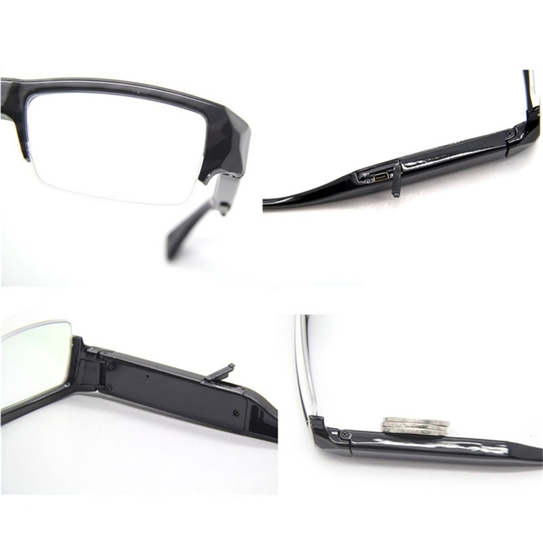 Super Eyeglass Camera HD 1080P Mini Camera Eyewear Mini DVs Mini Sunglasses Video Recorder 5MP Portable Glass Camcorder Security DVR