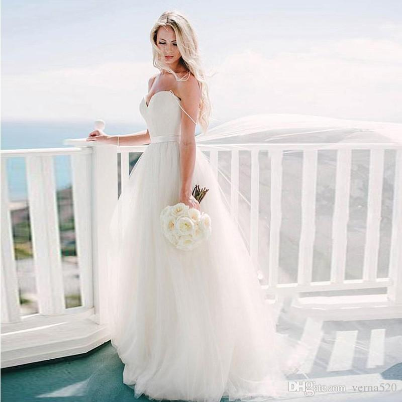 Beach Wedding Dress Bridal Gown Women Dresses Alibaba Custom Made Bridal Dress with Spaghetti Strap