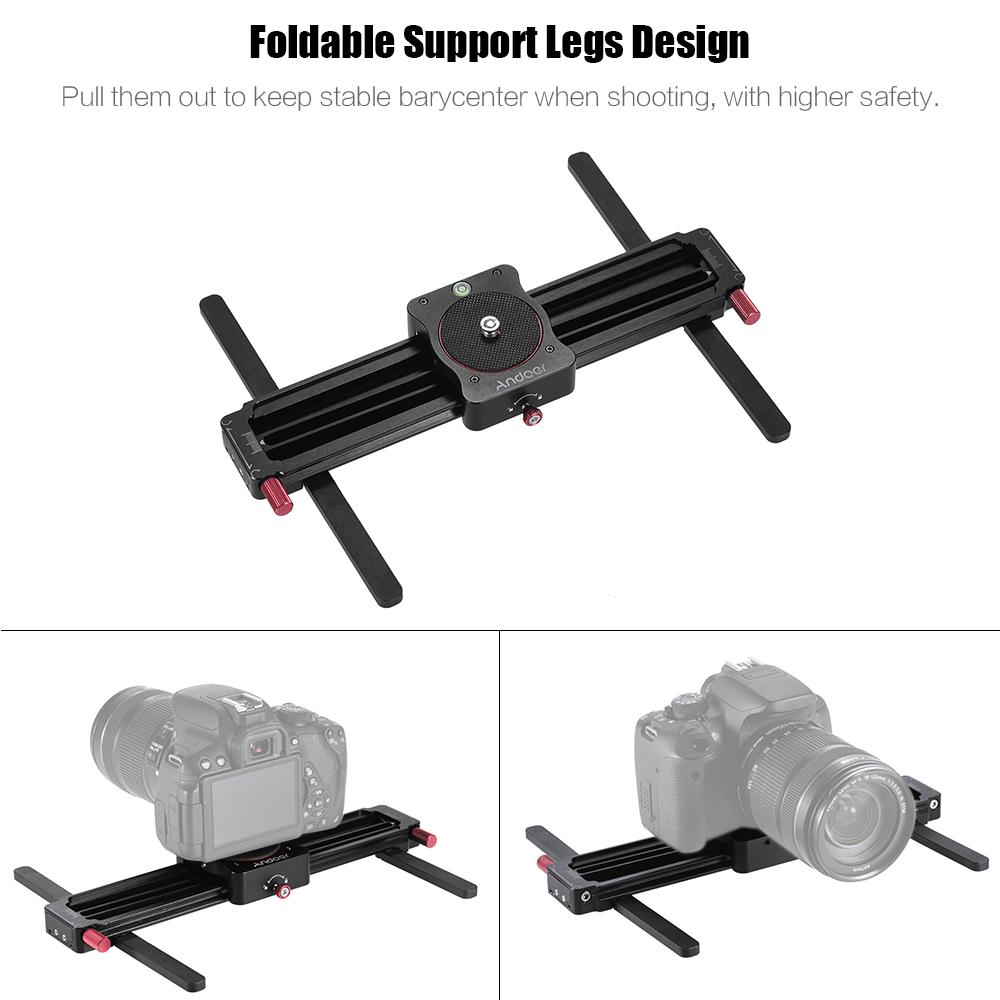GT-MN280 280mm Mini Track Slid 190mm Sliding Sliderance for GoPro Action Camera Smartphone Pocket Camera Lightweight Camera