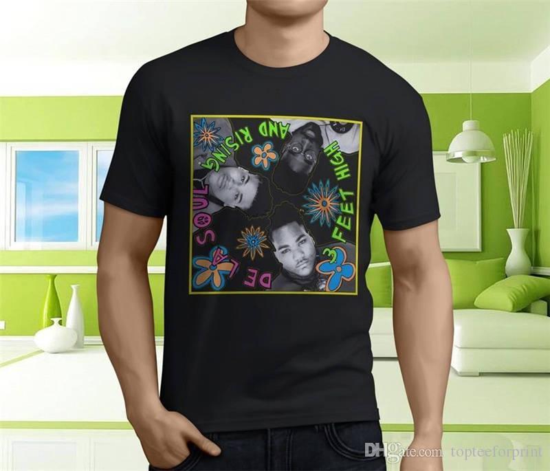 T Shirt 2018 Nouveau Short De La Soul 3 Pieds O-Cou Manches Courtes Pour Hommes T-shirts