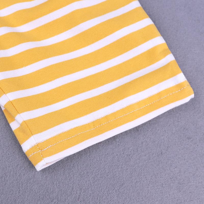Toddler Boys Clothes Summer Animal T-shirt Tee+Stripe shorts Pants Outfits Set Kids Boy Clothing Set Cotton T-shirt