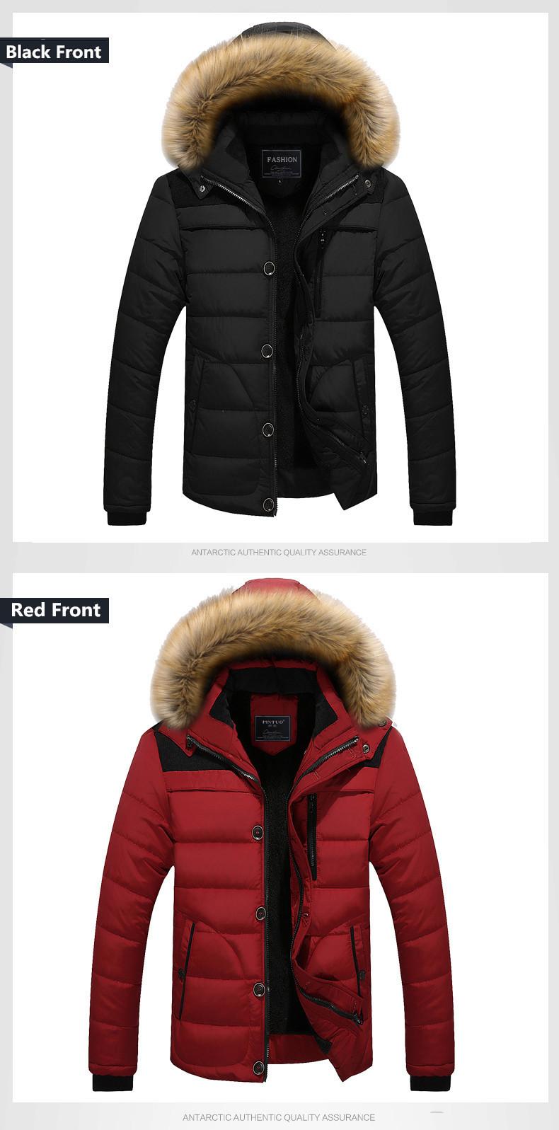 W102 2016 Mens Winter Jackets Coats Outwear Warm Down Jacket Thick Outdoor Hoodie Fox Fur Men\`s Parka Plus Size 4XL Famous Brand (10)