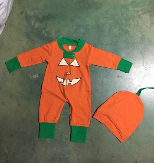 Women Men Kids Baby Pumpkin Clothing Set Long Sleeve T shirt + Pants Outifts Pajamas Baby Rompers 2018 Halloween family parent-child Clothes