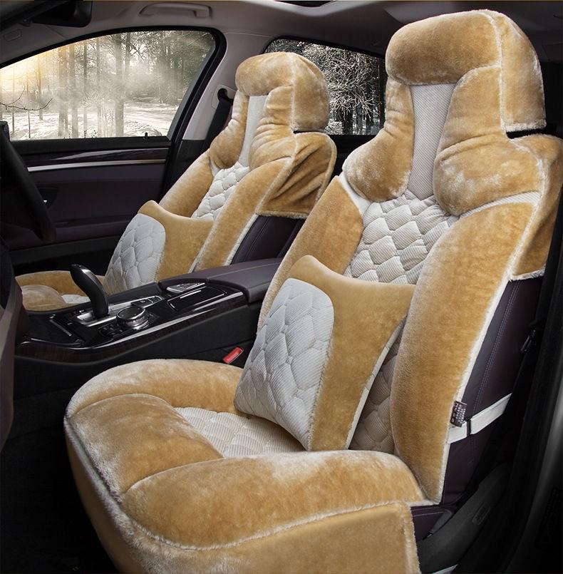AUDI A2-Lujo Piel de piel sintética de oveja cubiertas de asiento de Coche-Delantero Par