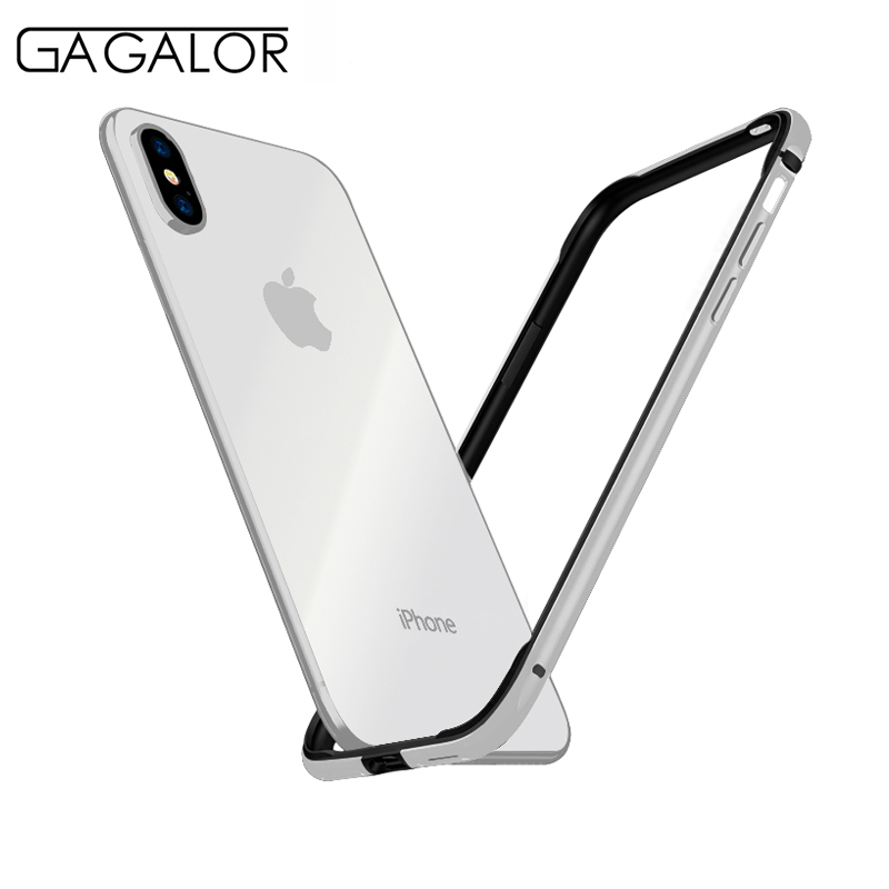 GAGALOR phone case metal bumper for iPhone XS MAX 6.5 ultra thin silicone lining for iPhone MAX aluminium alloy black 1