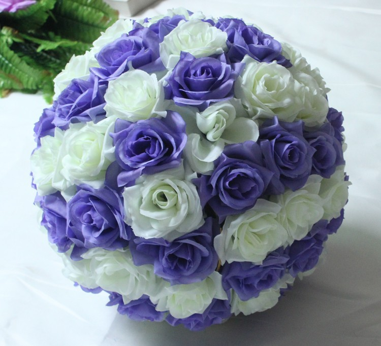 10inch (25cm) Wedding Kissing Balls Pomanders Romantic Silk Flower Kissing Balls Factory Wholesale (9)