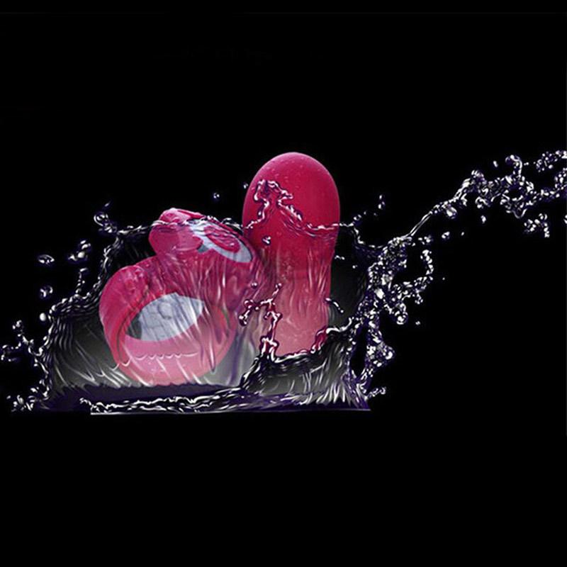 Silicone Pénis Astuce Vibromasseur Gland Extender Sleeve Télécommande Sans Fil Vibrateur Cock Delay Éjaculation Anneau Produits Sex Toy pour Hommes Y18102906