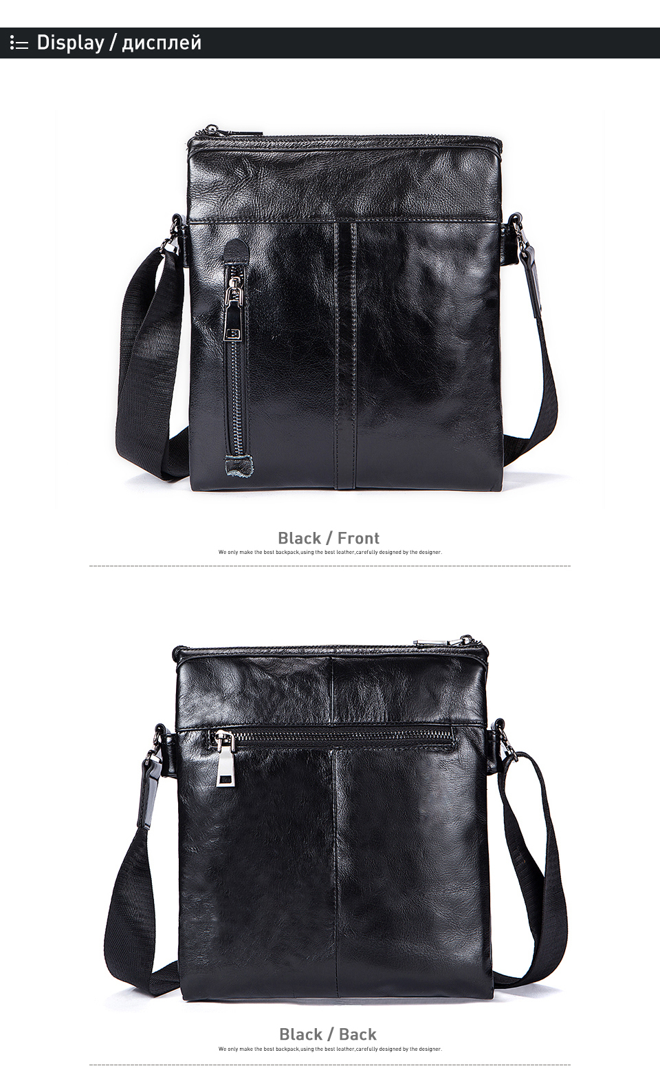 3 crossbody bags men geunine leather