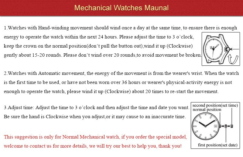 Mechanical Watches Maunal