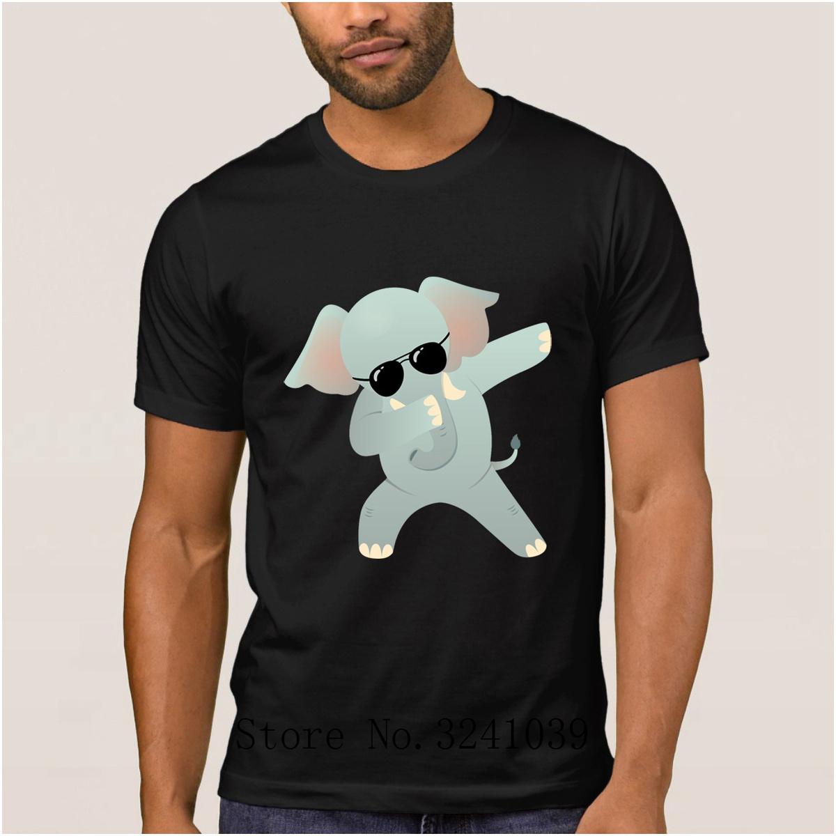 taille 7 large choix de designs achat original Acheter Créer Un Éléphant Tamponnant Avec Des Lunettes De Soleil Cadeau T  Shirt Pour Mens Été Intéressant T Shirt Lettre T Shirt 100% Coton De $15.74  ...