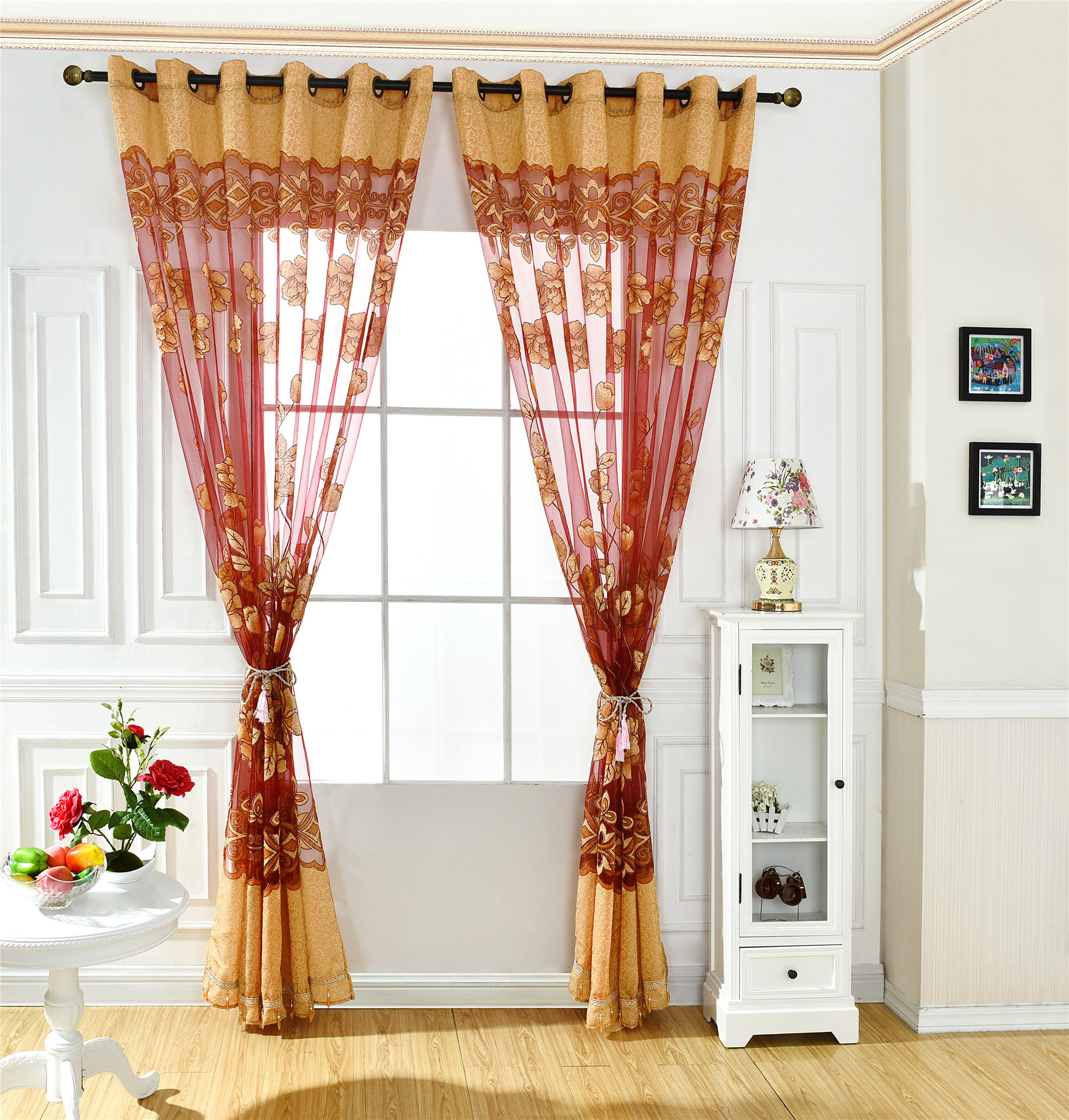 2020 120 250cm Living Room Curtains Simple And Modern Beautiful And Romantic Jacquard Burnt Half Shade Easy To Install Rod Pocket Curtain From Wwdh1234 15 16 Dhgate Com