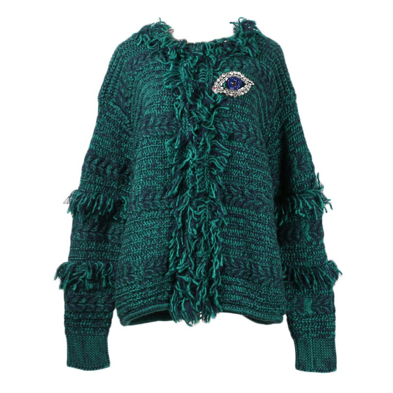 Women Winter Baggy Cardigan Coat Long Chunky Knitted Oversized Sweater Jumper C8