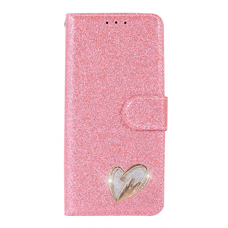 Case For Huawei P20 lite cover glitter Star diamond love flip wallet leather case For Huawei Nova 3e case silicon TPU back cover19