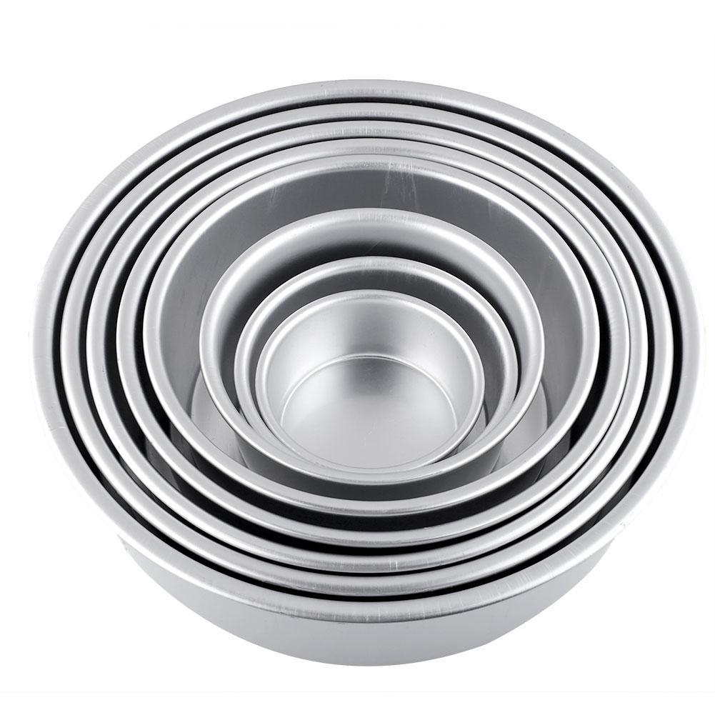 Moule à Gâteau Sandwich Boîte Ronde Profonde En Aluminium 6 Pouce