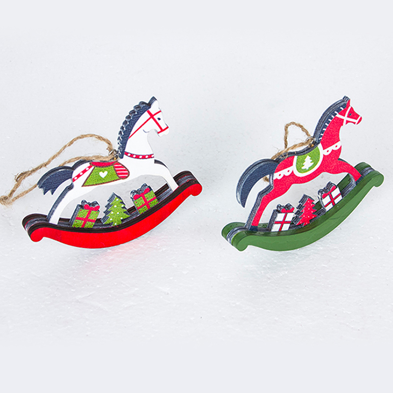 Christmas-tree-horse-pendant-Christmas-color-wooden-horse-ornaments-Xmas-door-hanging-decorations-for-Home-Party