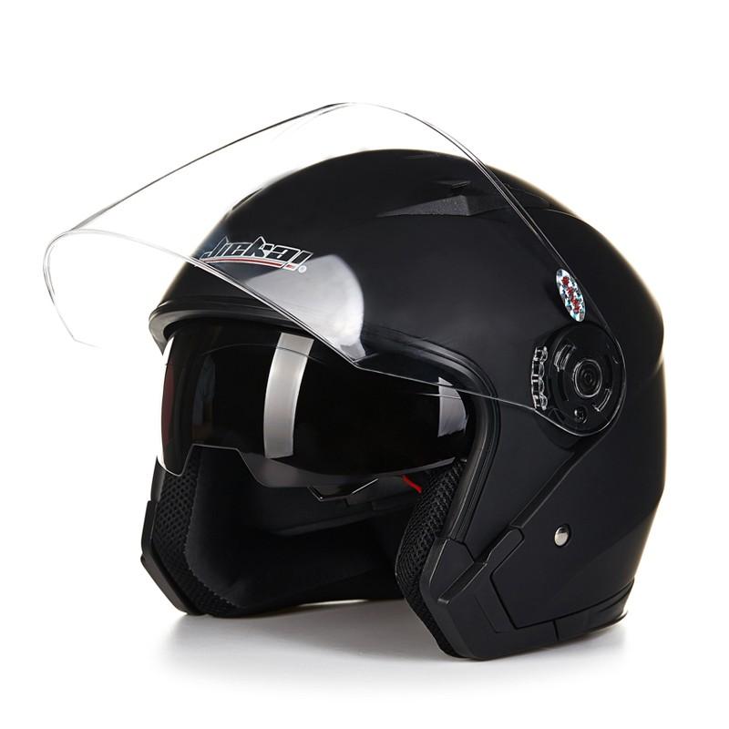 Multi Couleurs Disponibles Casque Toutes Saisons Anti-brouillard Casque Moteur Flip Up Headpiece D/évoil/é Avec Double Lentille JIEKAI Moto Casque