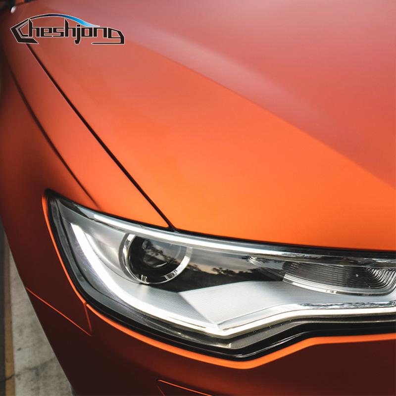Orange-Matte-chrome-Vinyl-Film-car-sticker-07