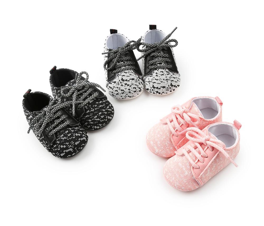 Cn /_ Algodón Corazón Bebé Suela Blanda Antideslizante Primero Andadores