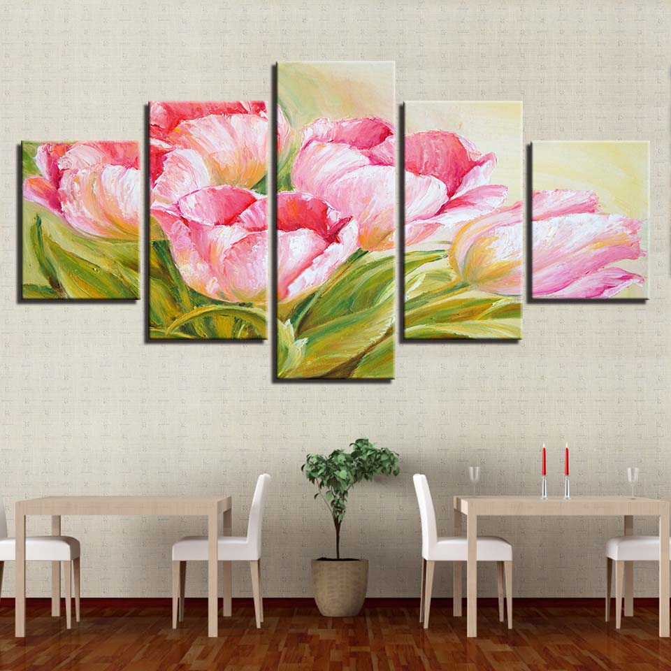 pop art bedroom decor.htm 2020 painting wall art abstract decoration fashion 5 panel pink  painting wall art abstract decoration