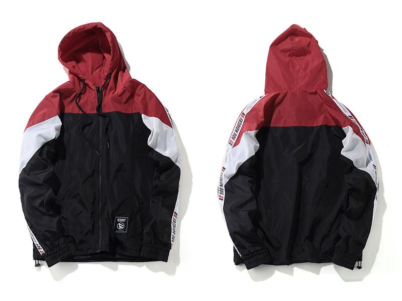 Color Block Patchwork Windbreaker Hooded Jackets 5
