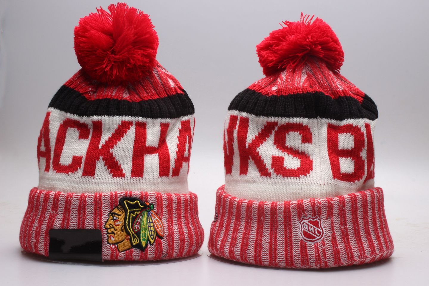 Fashion Retro Style Hockey Silhouette Ski Hat for Mens Womens Unisex Knit Hat