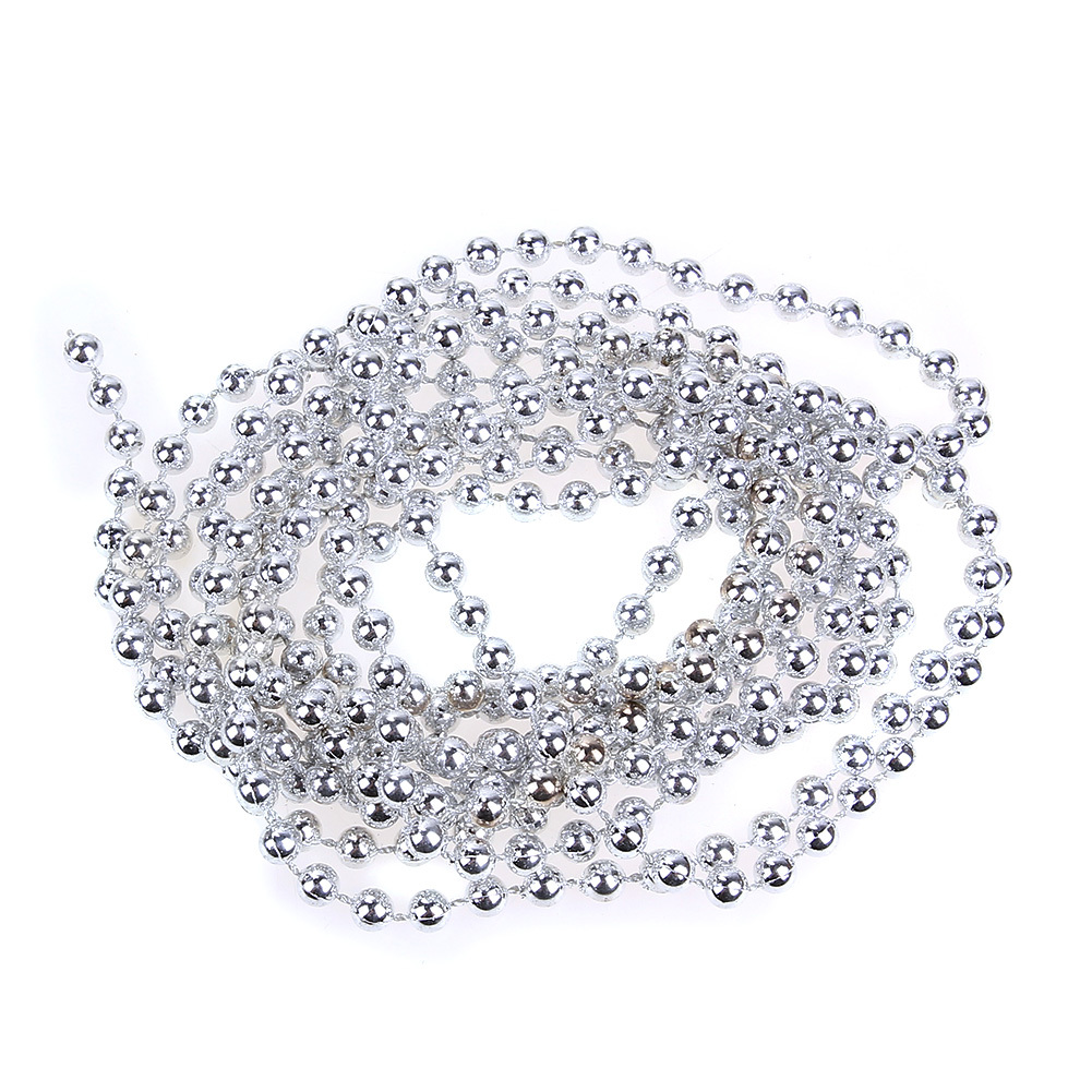 2.7m Silver Bead Chain Garland Merry Christmas Tree Decorations for Home Window Wedding Party Natal Noel New Year Decoration Y18102609