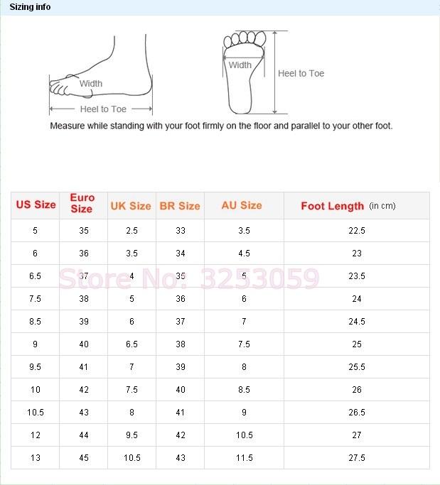 Dhgate women shoes size