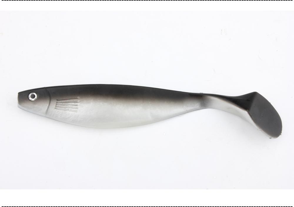 2PCS 240mm 75g Handmade Soft Bait Fish Fishing Lure Paddle Tail Manual Silicone Bass Minnow Bait Swimbaits Soft Plastic Lure (7)