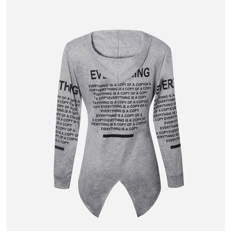 Fashion Cardigan Hoodies 2018 New Long Sleeve Women Sweatshirt Letter Print Sports Casual Hoodies Youth Sweaters Tops Plus Size S-6XL