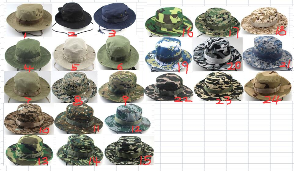 Tactical Mesh Boonie Cap Casual Breathable Hat Outdoor Hunting Fishing Camping